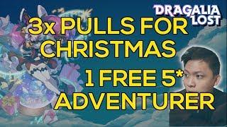 [DRAGALIA LOST] Guaranteed 5* Adventurer and 3x Tenfold Summons   Dragonyule Defenders