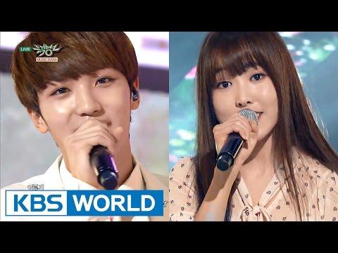 YUJU & SUNYOUL - Cherish | 유주(여자친구) & 선율(업텐션) - 보일 듯 말 듯 [Music Bank HOT Stage / 2016.03.25]