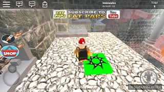 Escape the castle attacked obby part 1 (Roblox video )