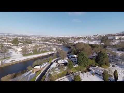 A flight around a snowy Dumfries and Galloway