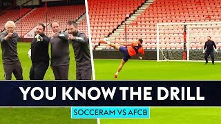 TEAM SOCCER AM VS BOURNEMOUTH AFC 🍒 | You Know The Drill | Six-Shot Challenge