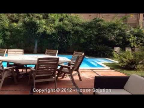 modern furnished villa with swimming pool for rent in maadi cairo - call +2 012 1101 7487