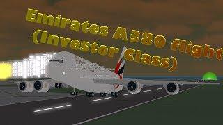 Vuelo A380 de Emirates - Clase de inversores ? Roblox