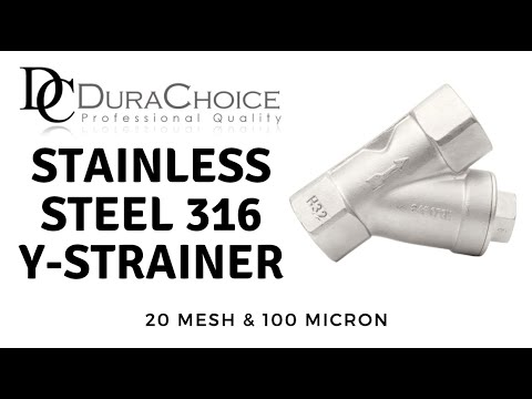 Stainless Steel Y-Strainer 1//2 SS 316 FxF NPT 100 Micron Filter