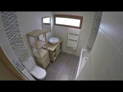 Rénovation d'une petite salle de bain réalisée par la société ATOM