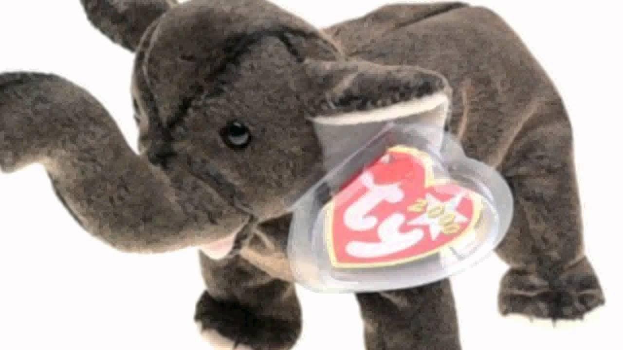 0993dd9065b Ty Beanie Babies - Trumpet The Elephant - YouTube