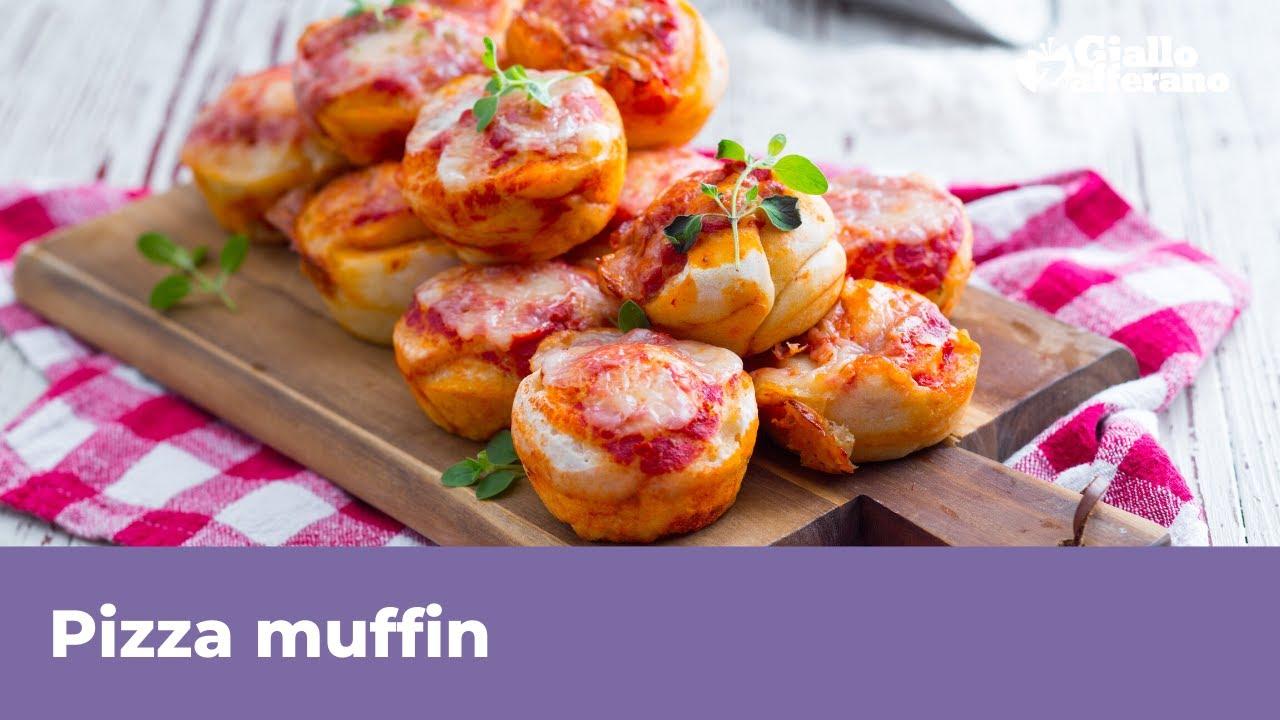 Ricetta Muffin Pizza.Pizza Muffin Senza Lievitazione Soffici E Gustosi Youtube