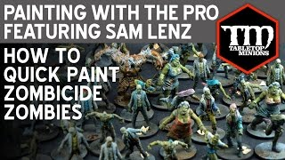 Painting With the Pro: How to Quick Paint Zombicide Zombies