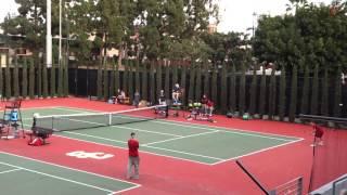 trojancandycom usc mens tennis player thibault forget wins a dramatic match
