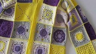 HOW TO CROCHET THIS BEAUTIFUL GRANNY SQUARE LONG CARDIGAN