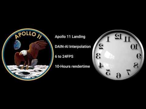 Apollo 11 landing interpolated 24fps