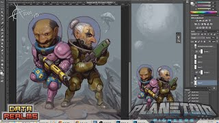 AndroidArts paints art assets for Planetoid Pioneers at Stugan