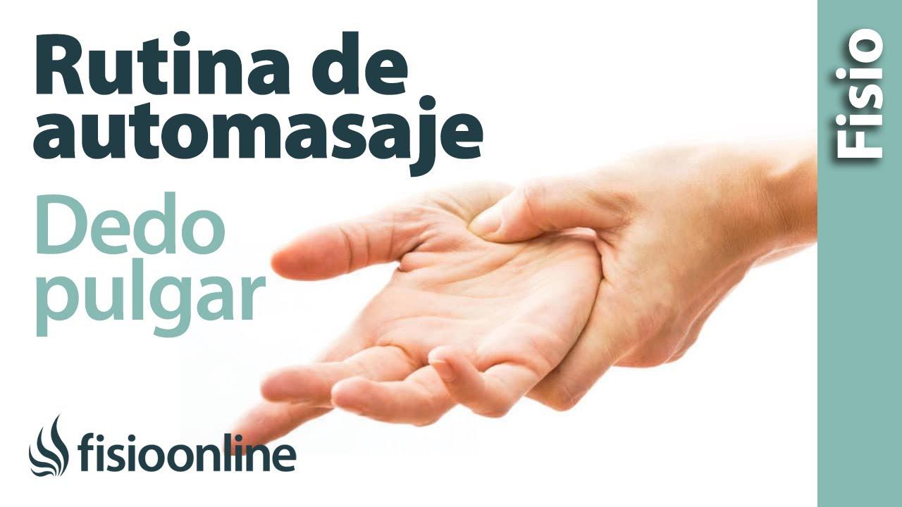ejercicios lesion dedo pulgar