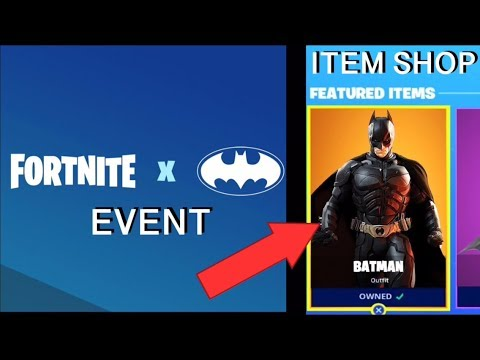 *NEW* FORTNITE X BATMAN EVENT LIVE! New FORTNITE ITEM SHOP LIVE (Fortnite Season 10)