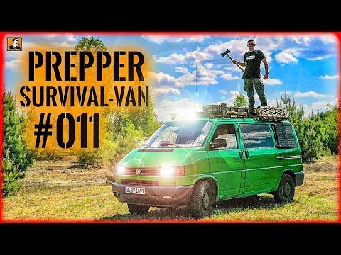 Flucht mit PREPPER NOTFALL VAN T4 #011 | ÜBERLEBEN im ERNSTFALL | LICHT & REIFEN | Survival Mattin