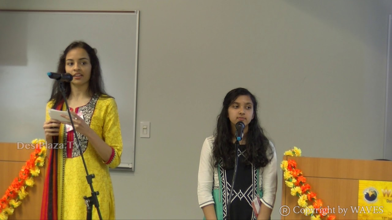 Ms Arushi Agrawal and Ms Anukruti Singh on 'Vedic Perspectives on Food' at WAVES  2018