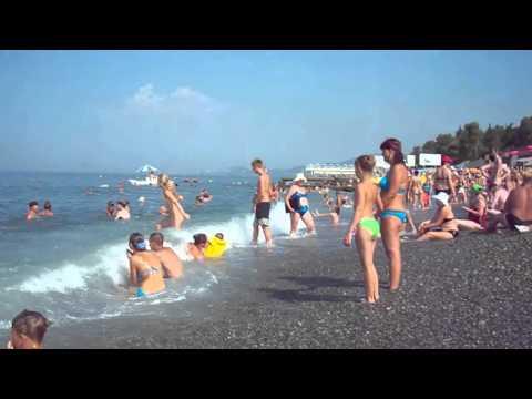 Пляж. Черное море. Адлер 2010. Chaika Beach (Adler)