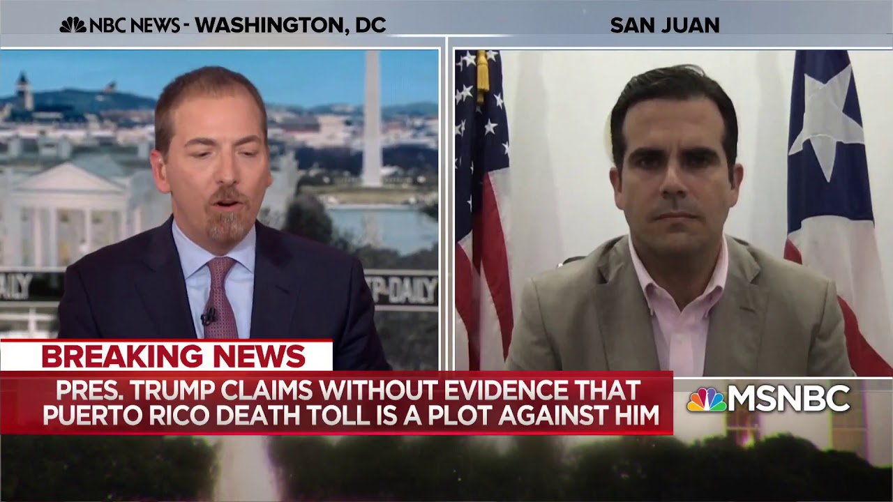 Puerto Rico Governor To Trump 'Victims Should Not Have Their Pain Questioned'  MTP Daily  MSNBC