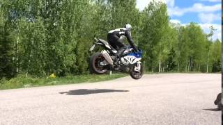 BMW S1000RR jump on Bomber mag first ride