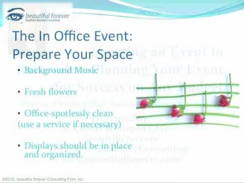 Aesthetic Business - Planning a Successful Event-Part 15- Prepare Your Space