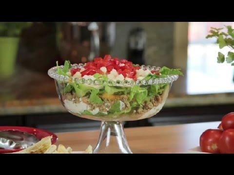 Greek Layered Dip With Yogurt, Hummus & Feta : Modern Mediterranean Recipes