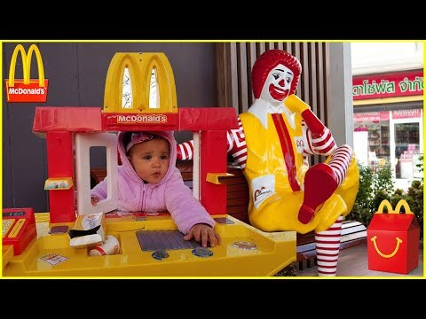 McDonald's Drive Thru Prank  Kids Fun Pretend Play Toy McDonald's Kitchen Set