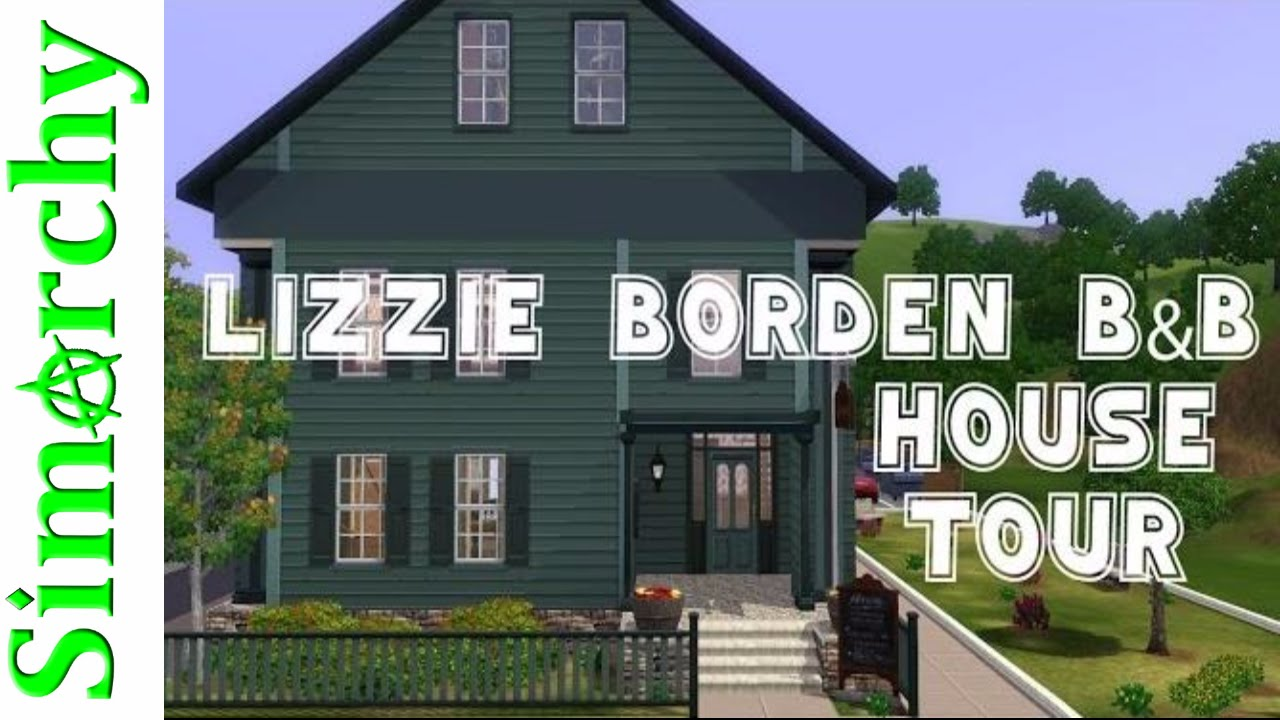 Lizzie borden bed and breakfast the sims 3 house tour for Video home tours