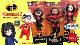 NEW Disney Pixar Incredibles 2 Toys Huge Haul Poseable Action Figures  Review By A Kid For Kids