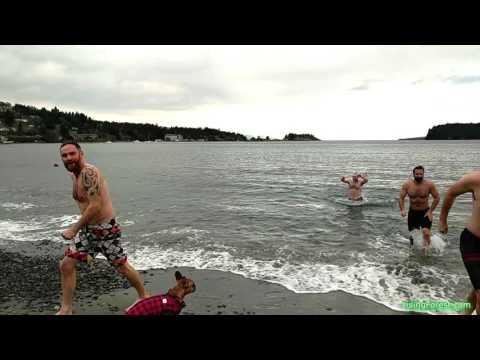 Polar Bear Swim New Year's Day 2017 Nanaimo BC