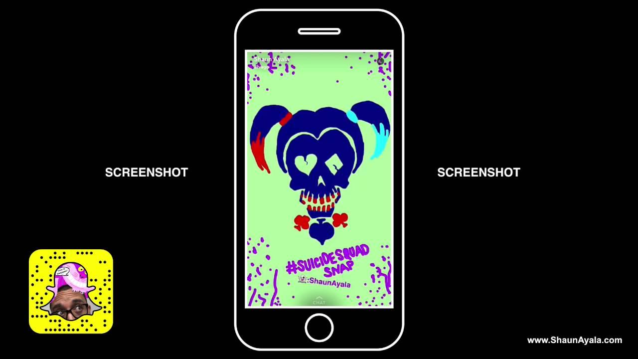 Snapchat Suicide Squad Snap Art Mobile Wallpaper