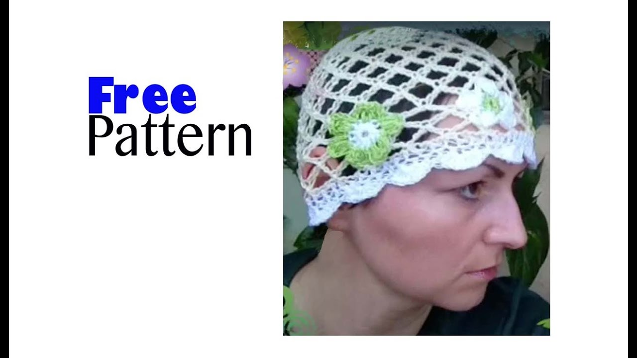Free Mesh Yarn Crochet Patterns : Free Pattern - Crochet Mesh Hat Adult Size - YouTube