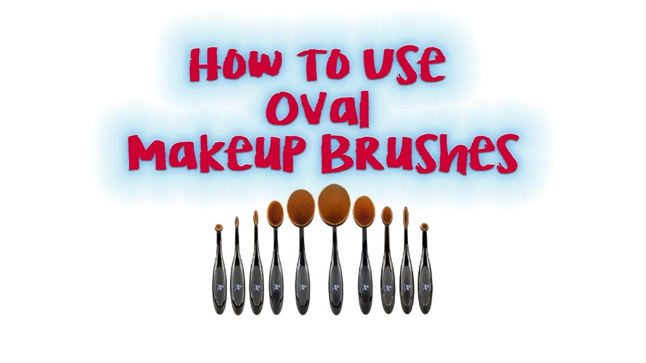 how to clean oval makeup brushes