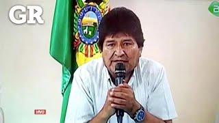El mensaje de renuncia de Evo Morales