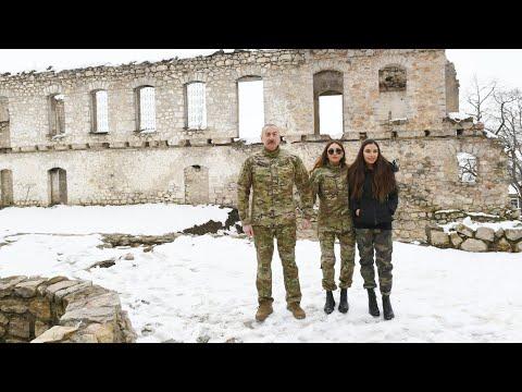 Президент Азербайджана посетил освобожденные от оккупации Физули и Ходжавенд