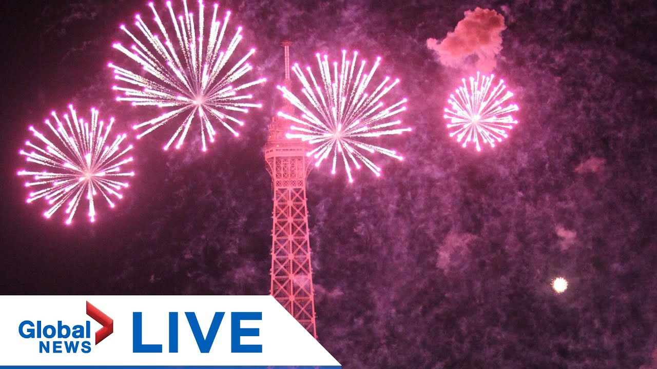 Bastille Day fireworks in Paris, France | LIVE