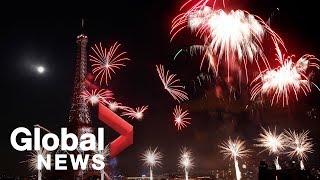 Bastille Day fireworks in Paris, France