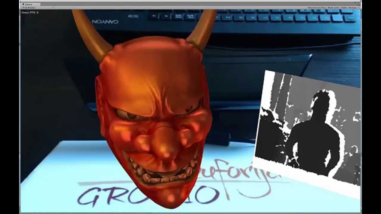 Augmented Reality Tutorial No  29: Unity3D, Vuforia and Kinect for Face  Tracking