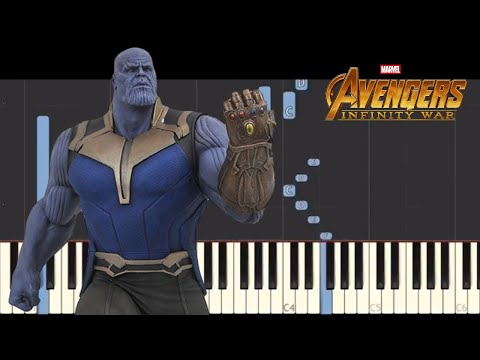 Avengers : Infinity War - End Theme - Emotional Piano Cover - Tutorial