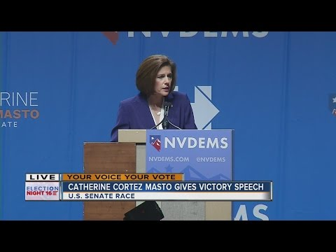 Catherine Cortez Masto gives victory speech in Nevada Senate race, first Latina senator