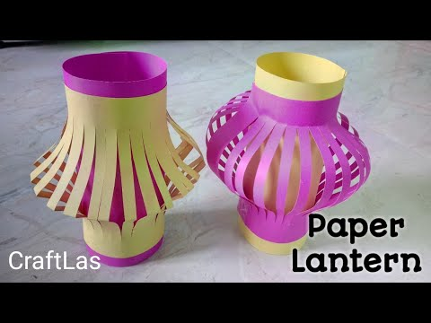 DIY Paper Lantern/Kandil For Diwali | How To | CraftLas