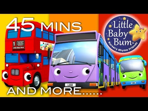 Bus Song | Different Types of Buses! | Plus More Nursery Rhy