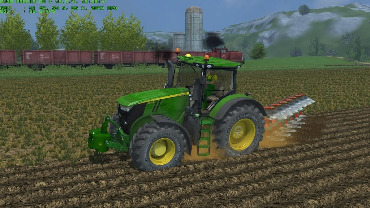 Farming Simulator 2013 Plowing with John Deere 7310 by Ago