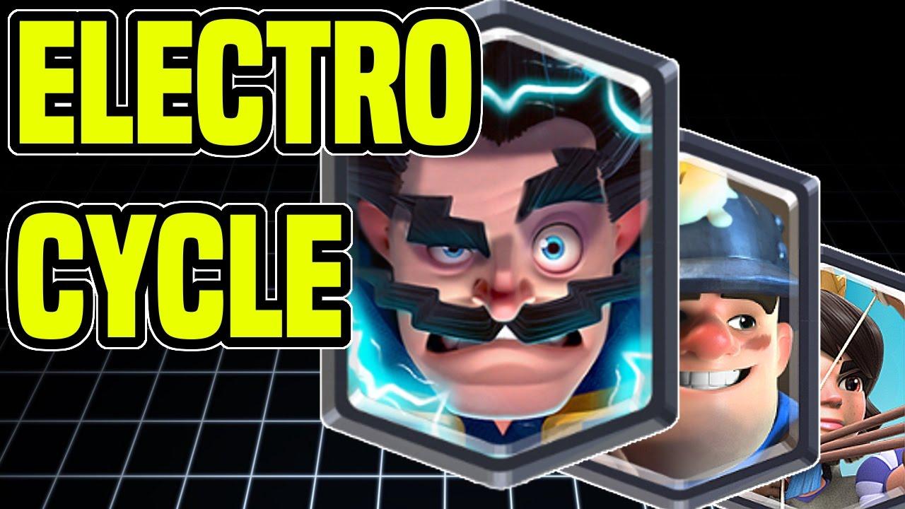 Clash Royale Electro Wizard Miner Princess Cycle