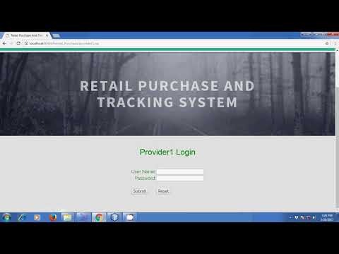 Retail Purchase & Tracking system