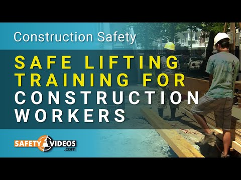 Safe Lifting Training for Construction Workers from SafetyVideos.com