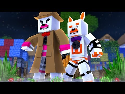 Detective Funtime Foxy Protects Lolbit in Murder Mystery (Minecraft Fnaf Roleplay Adventure)