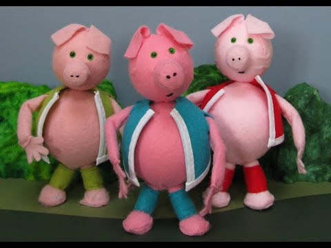 THE THREE LITTLE PIGS  (Animated Version - Stop Motion Animation)