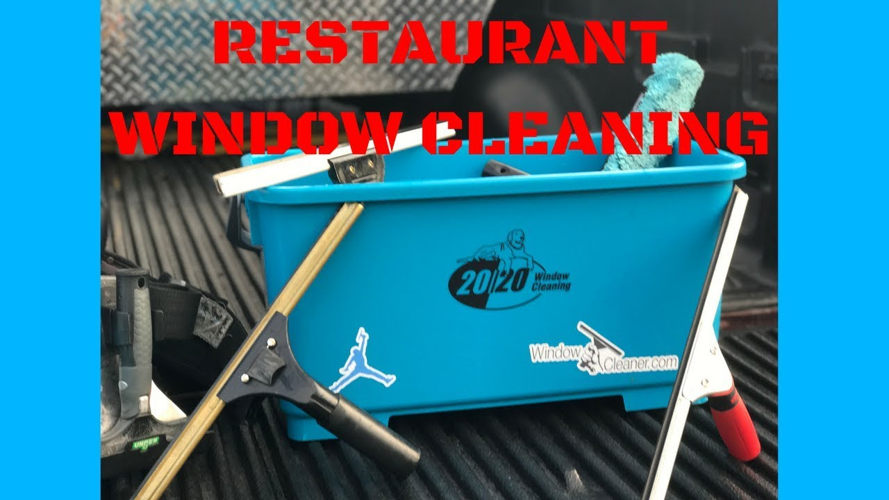 Restaurant Window Cleaning - INSIDE AND OUTSIDE - Every window! - LONG VID