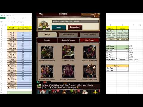 Game Of War: Secrifice for YT FAN - HOW TO - Dismiss all T1/3 & Replace T2/4 Seige - Read Comment