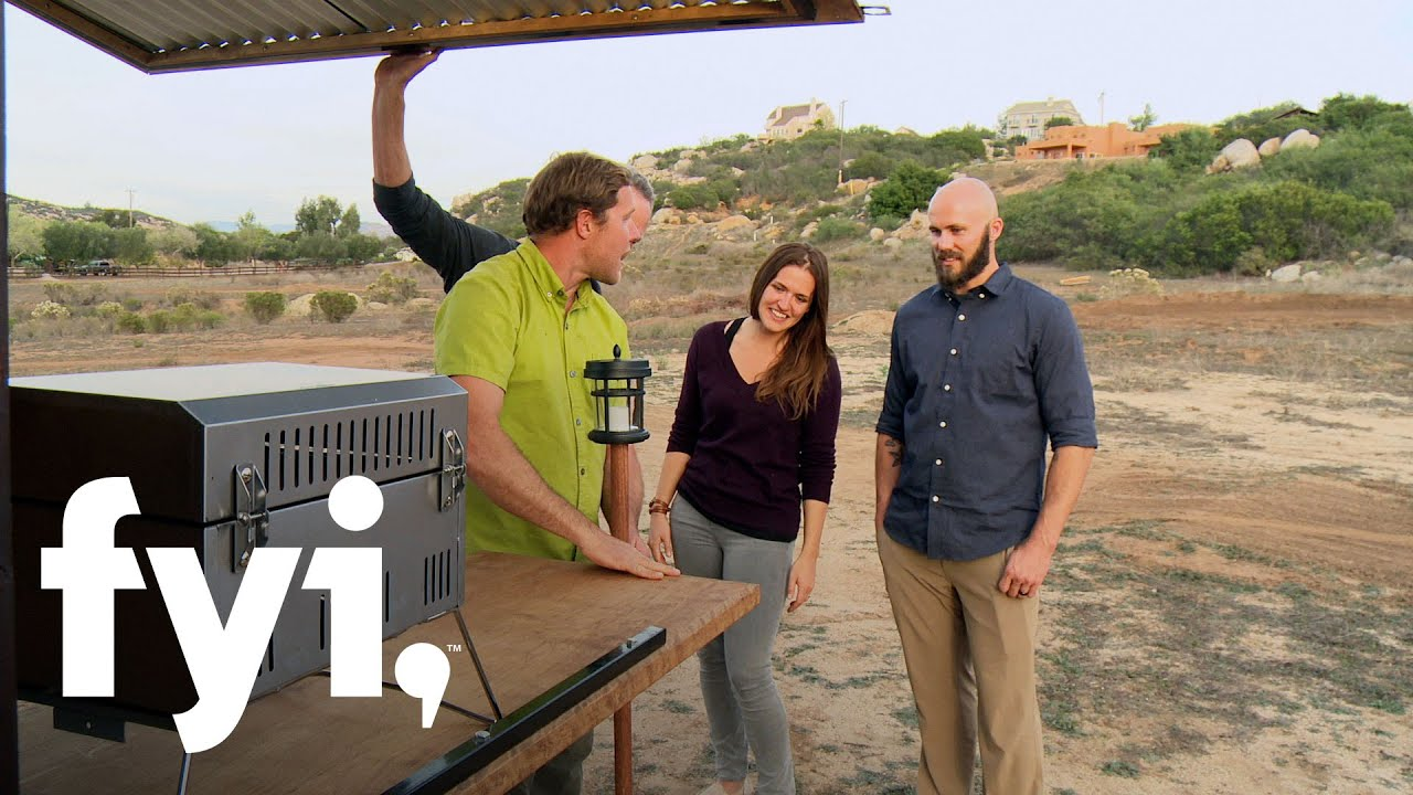 tiny house nation: add-on grill station (s3, e11) | fyi - youtube